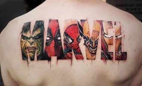 Tatouage Marvel : Le MCU dans la peau